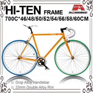 Many Size 700c Hi-Ten Fixed Gear Bic-460/480/500/520/540/550/560/5ke Bicycle for 700c-460/480/500/520/540/550/560/580/600/610mm (KB-700C10) pictures & photos
