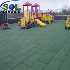 High Impact Recycled Playground Rubber Flooring Tile pictures & photos