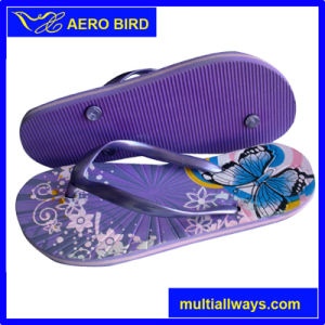 Men PE Shower Slipper with Colorful Print pictures & photos