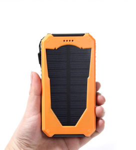 High Capacity Dual USB Portable Mobile Phone Solar Charger 12000mAh pictures & photos