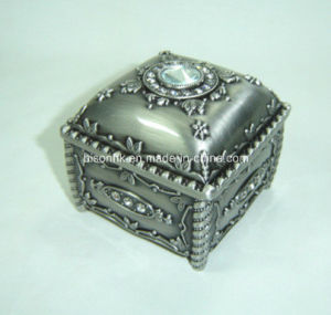Women′s Jewelry Box Princess Style, Metal Jewelry Ring Storage Box pictures & photos
