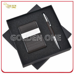 Business Card Holder and Metal Pen Gift Set pictures & photos