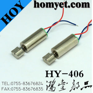 Cylinder Type Mini DC Vibrating Motor with Cables for Toy (HY-406) pictures & photos