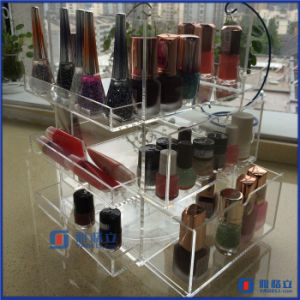 Acrylic Rotating Beauty Care Nail Polish Spinning Organizer pictures & photos