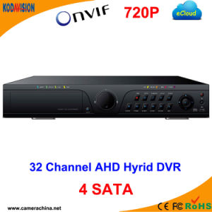 32CH Standalone H. 264 Ahd Hybrid CCTV DVR P2p pictures & photos