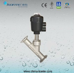 Welded Pneumatic Angle Seat Valve, Pneumatic Angle Piston pictures & photos