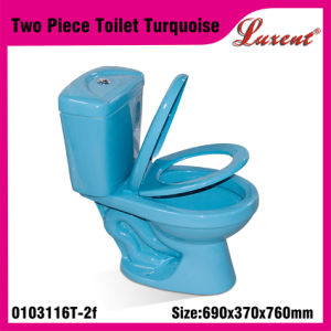Stoneware Siphonic Gravity Flushing Round Shape Econormic 2PC Water Closet pictures & photos