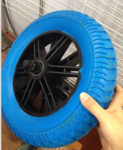 High Quality Flat Free PU Wheel (325-8) pictures & photos