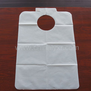 PE Plastic with Paper 2in1 Design Adult Apron pictures & photos