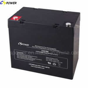 12V55ah Gel Battery for Home Solar System 12V 55ah CG12-55 pictures & photos