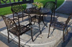 Hot Sale 5PC Dining Sets Cast Aluminum Furniture for Garden pictures & photos