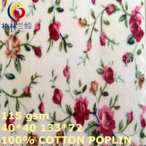 40*40/133*72 Cotton Poplin Printed Fabric for T-Shirts Garment (GLLML423) pictures & photos