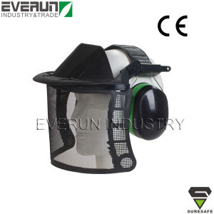 ER9415 Mesh face shield with earmuffs for brush cutters pictures & photos