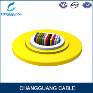 Ribbon G652D Fiber Cable Aramid Yarn LSZH Oversheath Gjfdv