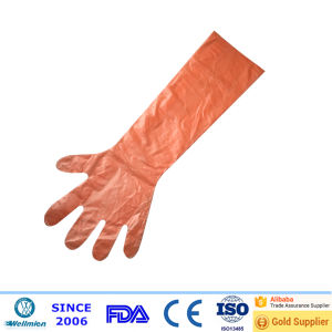 Disposable PE Long Sleeves Gloves pictures & photos