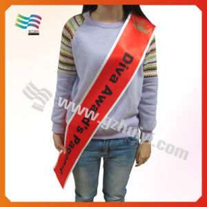 Pageant Satin Sashes with Logo Printing pictures & photos