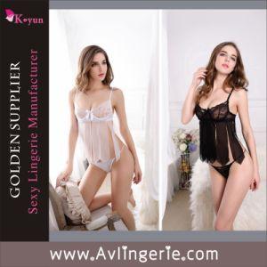 Women′s Enticingly Sexy Babydoll Lingerie Lace Underwear (KLB1-148)