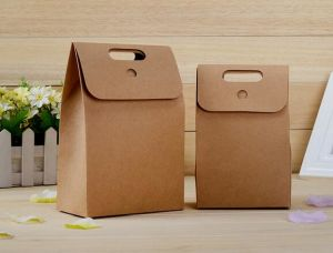 OEM Custom Kraft Paper Cake Bag Eco Friendly Paper Bag pictures & photos