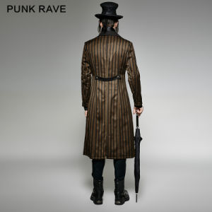 Y-717 Punk Rave Brand Steampunk Classical Stripe Luxury Suits Woven Jacket pictures & photos