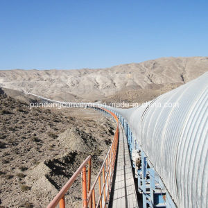 Long Distance Belt Conveyors/ Bend Belt Conveyor/ Curved Belt Coneyor with Rain Cover
