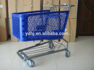 100L American Style Plastic Supermarket Trolley pictures & photos