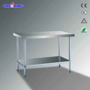 Simply Stainless Steel Worktable with Under Bench Shelves pictures & photos