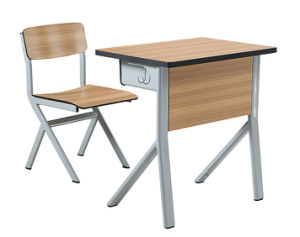 Modern Design Single Desk and Chair Classroom Furniture pictures & photos