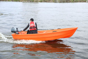 China 3.6m PE Fishing Boat Hard Motor Plastic Boat pictures & photos