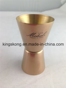 Hot Sales 20ml/40ml Stainless Steel Double Copper Jigger pictures & photos