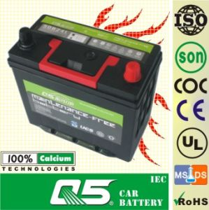 JIS-60B24 12V48AH Hottest Sales! Cheapest price Mf Car Battery for Easy to Install pictures & photos