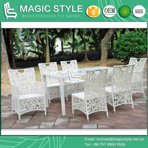 Special Weaving Dining Set Patio Rattan Dining Chair Outdoor Armchair (Magic Style) pictures & photos