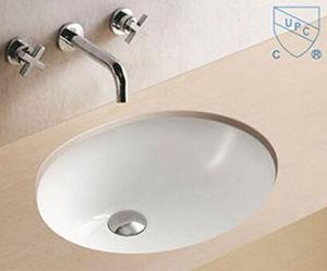 Bathroom Under Counter Oval Round Shape Art Ceramic Porcelain Hand Wash Sink Basin pictures & photos