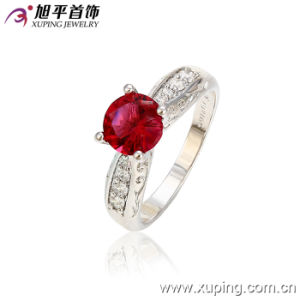 Fashion Luxury Charming Single Ruby Stone Dubai Silver Jewelry Ring 13025 pictures & photos