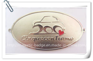 Soft Enamel Gold Plated Recessed Sandblast Car Badge pictures & photos
