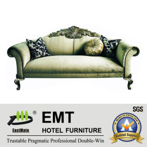 Luxurious European Style Hotel Sofa Leather Sofa for Star Hotel (EMT-SF13) pictures & photos
