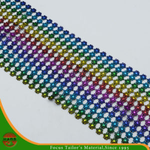 Rhinestone Mesh Trimming for Decoration (HASLE160033) pictures & photos