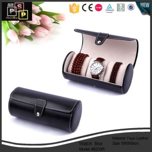 Newest Product Round Tube Leather Watch Packaging Box pictures & photos