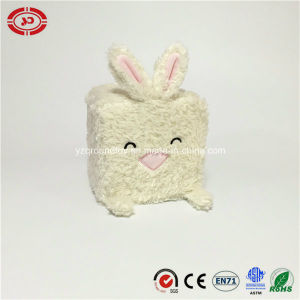 White Rabbit Happy Plush Square Soft Stuffed Toy pictures & photos