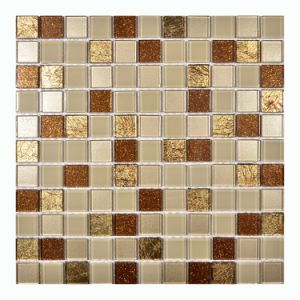 2017 New! Square Golden Glass Mosaic pictures & photos