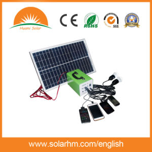 (T-107) Portable Solar System with 10W Polycrystalline Solar Panel pictures & photos