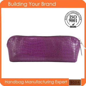 Promotional Cute Violet Zipper Fashion Lady Cosmetic Bag pictures & photos