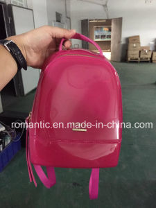 Guangzhou Supplier Jelly Backpack Bag Designer Candy Womens Backpack (J-899)
