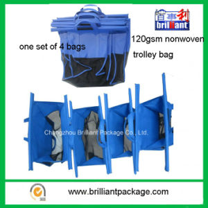 Nonwoven Packing Sorted Foldable Supermarket Trolley Shopping Bag pictures & photos