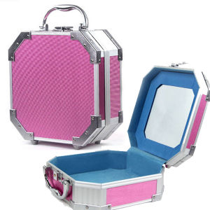Polygon Jewelry Box with Makeup Mirror pictures & photos