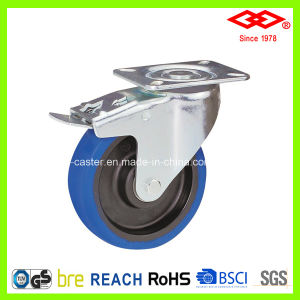 100mm Elastic Rubber Thick Housing Industrial Caster (P161-23F100X36S) pictures & photos