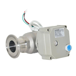 1′′ 304stainless Steel Motorized Sanitary Electric Actuator Ball Valve (T25-S2-B-Q) pictures & photos