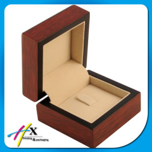 Luxury Handmade Custom Logo Natural Wood Thick MDF Wooden Jewelry Packing Box pictures & photos