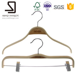Fashion Luxury Wooden Dress Hanger pictures & photos
