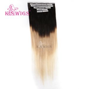 Top Quality Tape Hair Remy Brazilian Hair Extensions pictures & photos