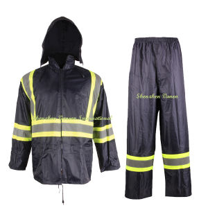Reflective PVC Rainsuits for Police pictures & photos